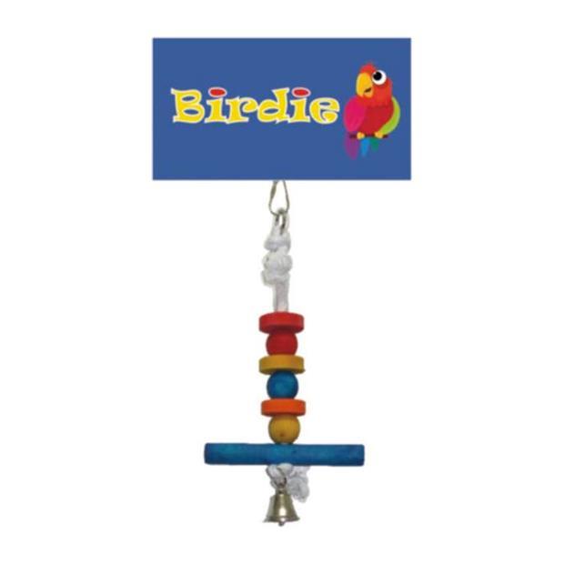Birdie Small Perch With Bell Each Pet: Bird Category: Bird Supplies  Size: 0.2kg  Rich Description:...
