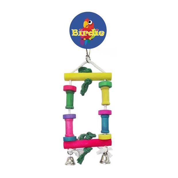 Birdie Medium Block Swing With Bells Each Pet: Bird Category: Bird Supplies  Size: 0.2kg  Rich...