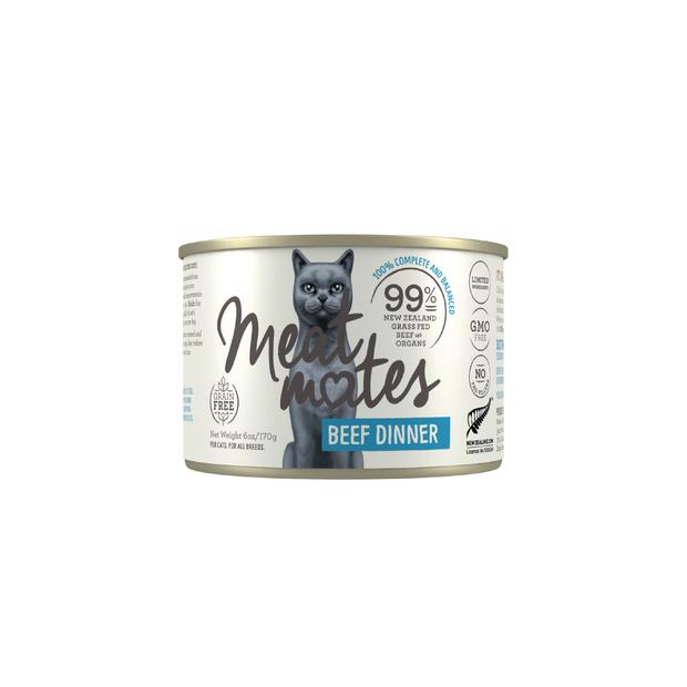 Meat Mates Grain Free Beef Dinner Wet Cat Food Cans 24 X 170g Pet: Cat Category: Cat Supplies  Size:...