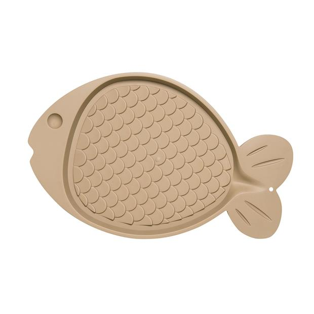 Bella Spill Proof Fish Shaped Cat Mat Tan Each Pet: Cat Category: Cat Supplies  Size: 0kg Colour: Tan...