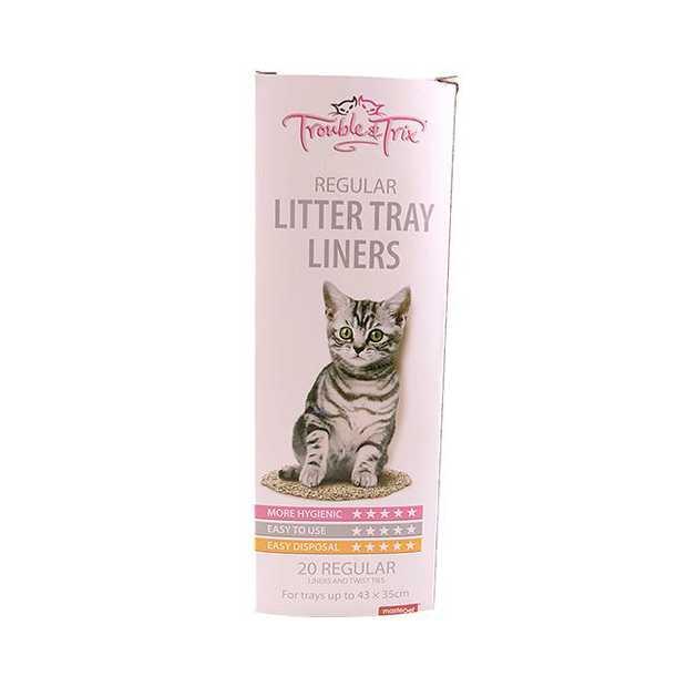 Trouble And Trix Litter Liners 20 Pack Pet: Cat Category: Cat Supplies  Size: 0.2kg  Rich Description:...