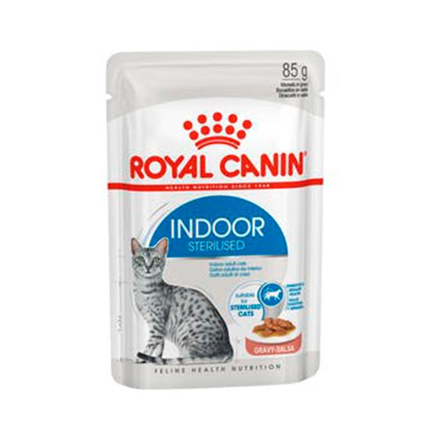 Royal Canin Indoor Adult Gravy Wet Cat Food Pouches 48 X 85g Pet: Cat Category: Cat Supplies  Size: 4kg...