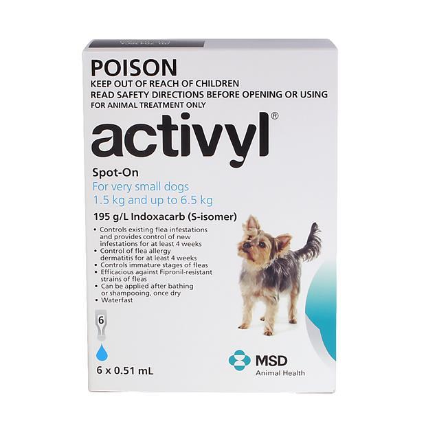 Activyl Very Small Dog 6 Pack Pet: Dog Category: Dog Supplies  Size: 0.1kg  Rich Description: Activyl...