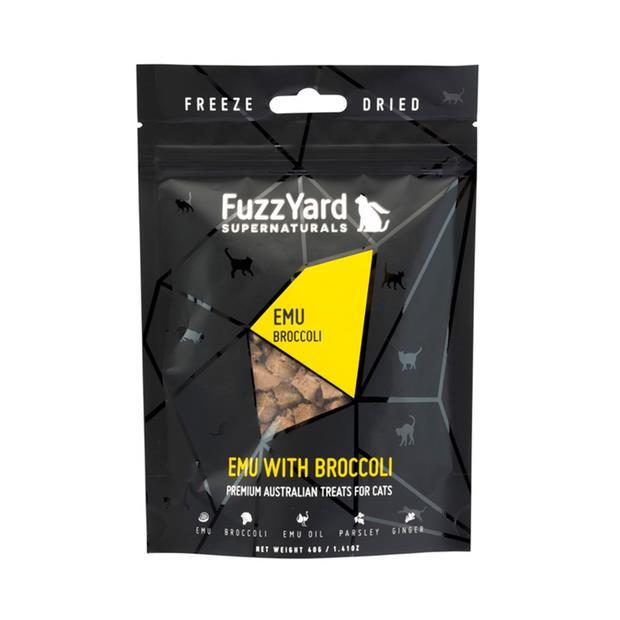 Fuzzyard Supernaturals Cat Treats Emu 2 X 40g Pet: Cat Category: Cat Supplies  Size: 0.1kg  Rich...