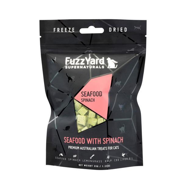 Fuzzyard Supernaturals Cat Treats Seafood 2 X 25g Pet: Cat Category: Cat Supplies  Size: 0.1kg  Rich...