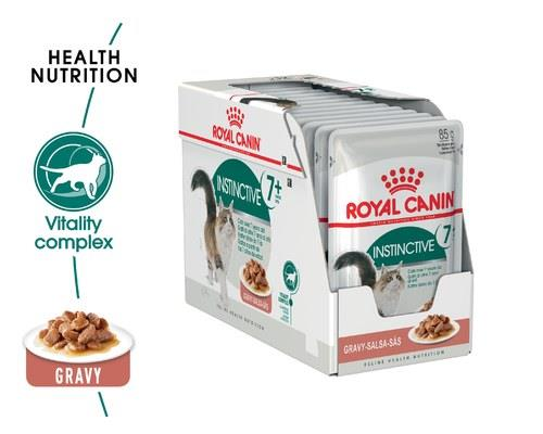 ROYAL CANIN INSTINCTIVE 7+ GRAVY ADULT CAT WET FOOD 12X85GDesigned for adult cats over 7 years old...