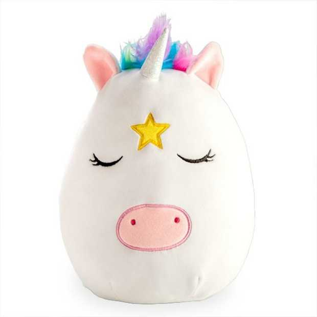 Cute unicorn cushion that feels like a squishy marshmallow!  Made from super soft velour...
