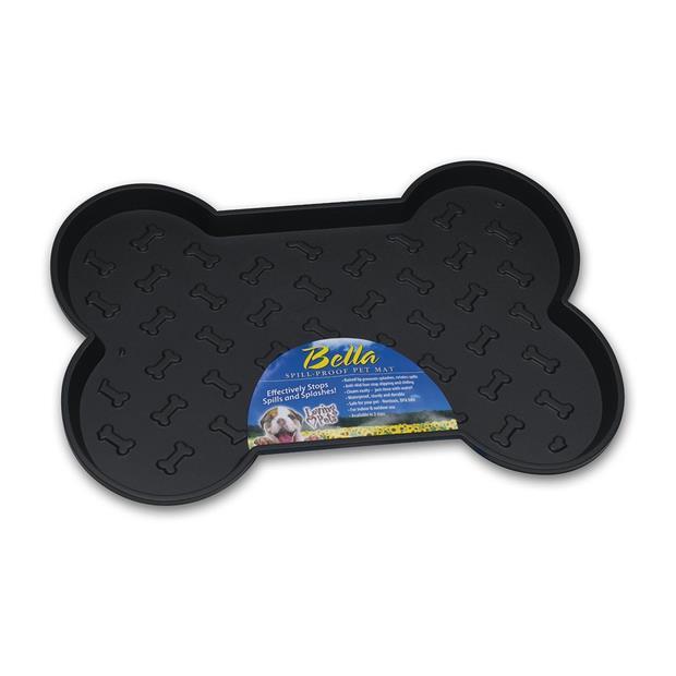 Bella Spill Proof Dog Mat Black Each Pet: Dog Category: Dog Supplies  Size: 0kg Colour: Black  Rich...