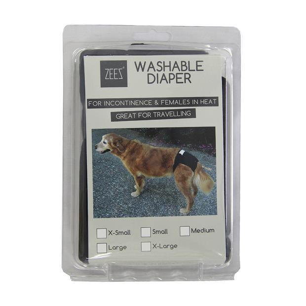Zeez Washable Diaper Large Pet: Dog Category: Dog Supplies  Size: 0.1kg  Rich Description: For...