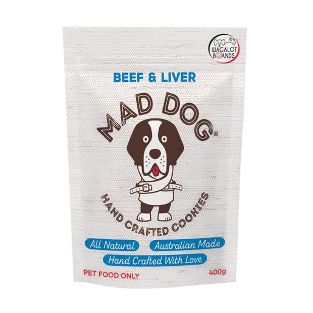 Mad Dog Cookie Bag Beef And Liver 400g Pet: Dog Category: Dog Supplies  Size: 0.4kg  Rich Description:...