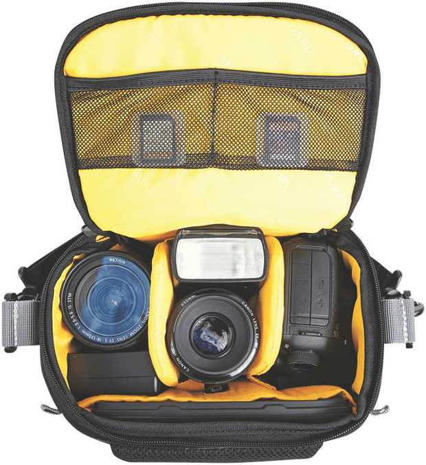 This Vanguard camera bag is a camera case and is black. You can keep dirt and dust away from your...