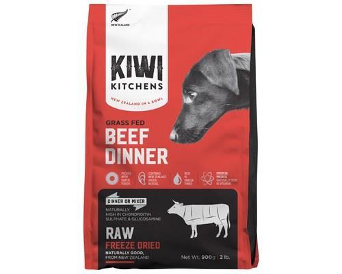 KIWI KITCHENS DOG FREEZE DRIED BEEF DINNER 900GKiwi Kitchens RAW Freeze Dried Food is the ultimate in...