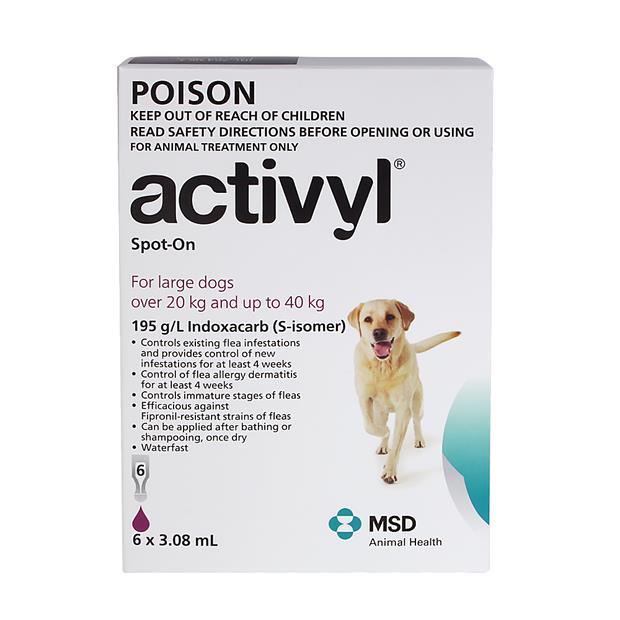 Activyl Large Dog 6 Pack Pet: Dog Category: Dog Supplies  Size: 0.1kg  Rich Description: Activyl is a...