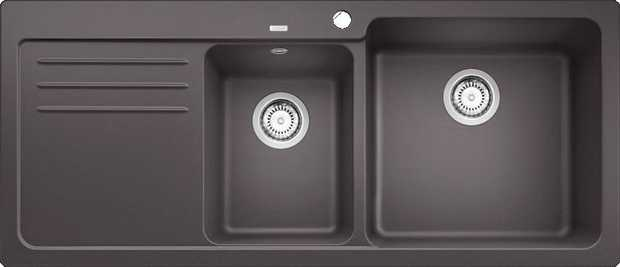 HYGIENE+PLUS SILGRANIT™ PuraDur™ Engineered in Germany Maximum bowl size Raised tap landing Rear waste...