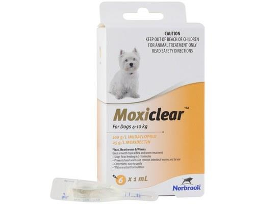 MOXICLEAR FOR DOGS 4-10KG 6 PACKMoxiclear for dogs that are 4-10kg is designed to be an all-rounder...