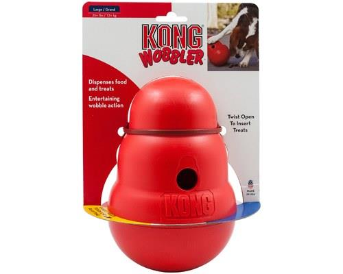 KONG WOBBLER LARGE  The KONG Wobbler is an action-packed toy that is a mentally stimulating...