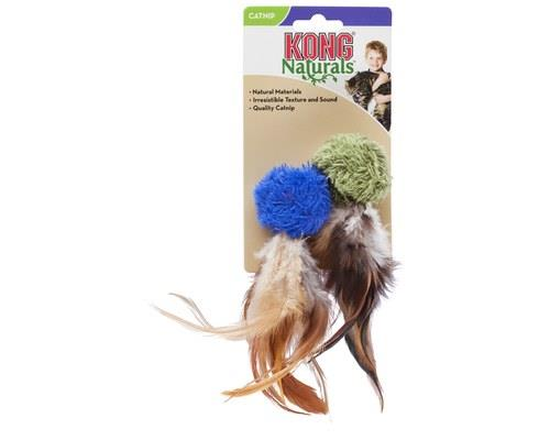 KONG NATURALS CRINKLE BALL WITH FEATHERS  The KONG Naturals Crinkle Ball w/ Feathers are...