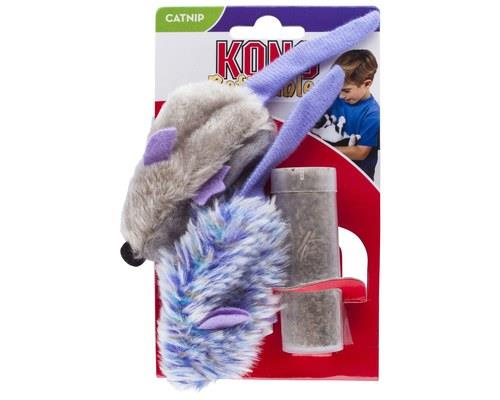 KONG REFILLABLE MOUSE CATNIP TOY  These soft and snuggly plush catnip toys have a reclosable...