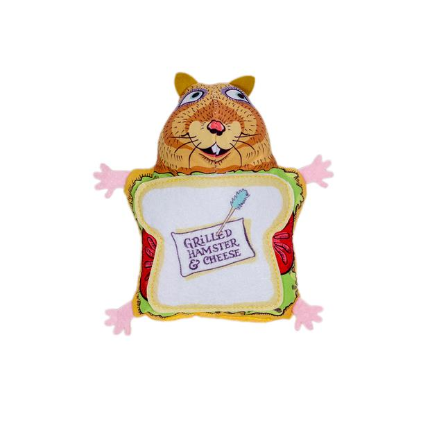 Fuzzu Fluffy Cat Snack Bar Grilled Hamster And Cheese Toy Each Pet: Cat Category: Cat Supplies  Size:...