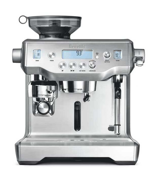 This Breville coffee machine's espresso maker lets you enjoy coffee drinks easily. It features a...