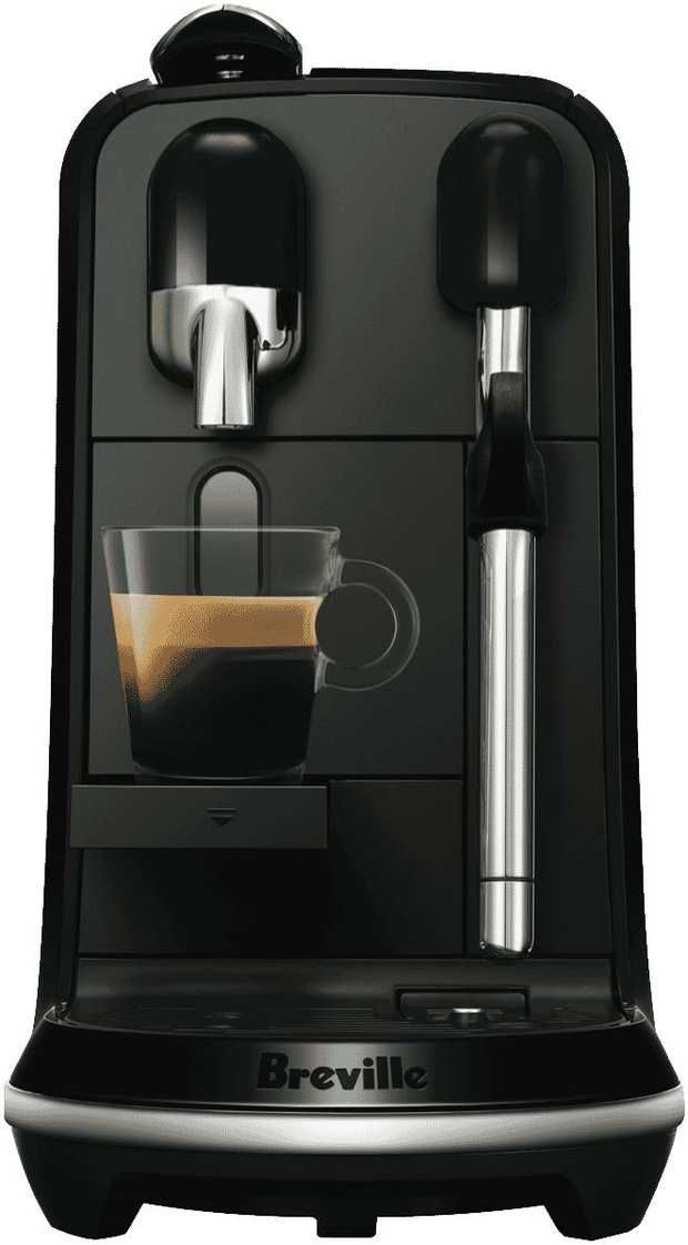 You can brew espresso drinks at your convenience with this Nespresso coffee machine's espresso maker.