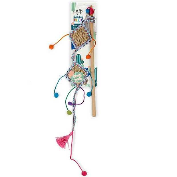 Afp Whisker Fiesta Wand Kite Each Pet: Cat Category: Cat Supplies  Size: 0.1kg Colour: Multi  Rich...