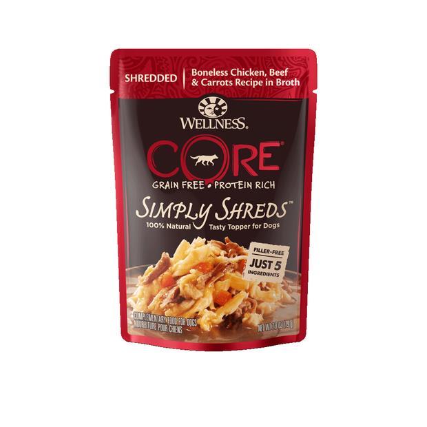 Wellness Core Simply Shreds Chicken Beef Carrots Wet Dog Food 12 X 79g Pet: Dog Category: Dog Supplies ...