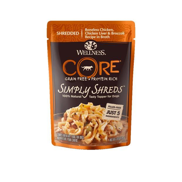 Wellness Core Simply Shreds Chicken Chickenliver Broccoli Wet Dog Food 12 X 79g Pet: Dog Category: Dog...