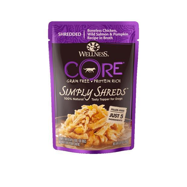 Wellness Core Simply Shreds Chicken Salmon Pumpken Wet Dog Food 12 X 79g Pet: Dog Category: Dog...