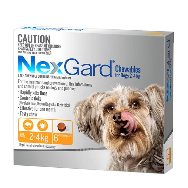 Nexgard Very Small 2 X 6 Pack Pet: Dog Category: Dog Supplies  Size: 0.4kg  Rich Description: Nexgard...