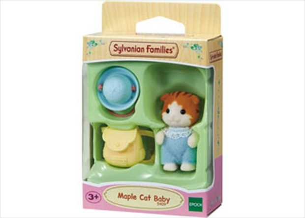 Meet Alfie the Maple Cat Baby. Alfie comes complete with hat and bag. Each figurine has its own story...
