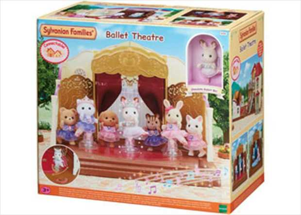 The Ballet Theatre is a grand theatre for the Sylvanian children to have ballet lessons and perform...