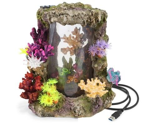 KAZOO LED CORAL CENTREPIECE W/PLANTS & AIR - EXTRA LARGELike a breath of fresh underwater air, this...