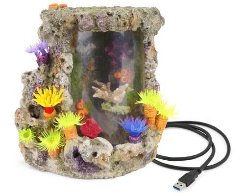 KAZOO LED CORAL CENTREPIECE W/PLANTS & AIR - MEDIUMThis gorgeous coral centrepiece from Kazoo glows...
