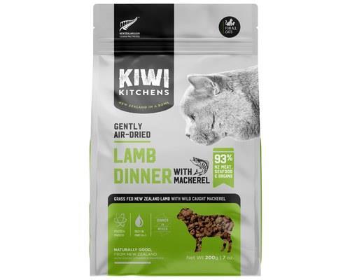 KIWI KITCHENS CAT AIR DRIED DINNERS LAMB AND MACKEREL 200GThe ultimate Surf 'n Turf, lamb and mackeral...