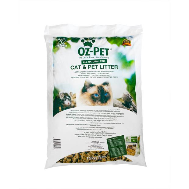 Oz Pet Animal Pine Wood Litter 15 Kg Pet: Cat Category: Cat Supplies  Size: 15kg Material: Wood  Rich...