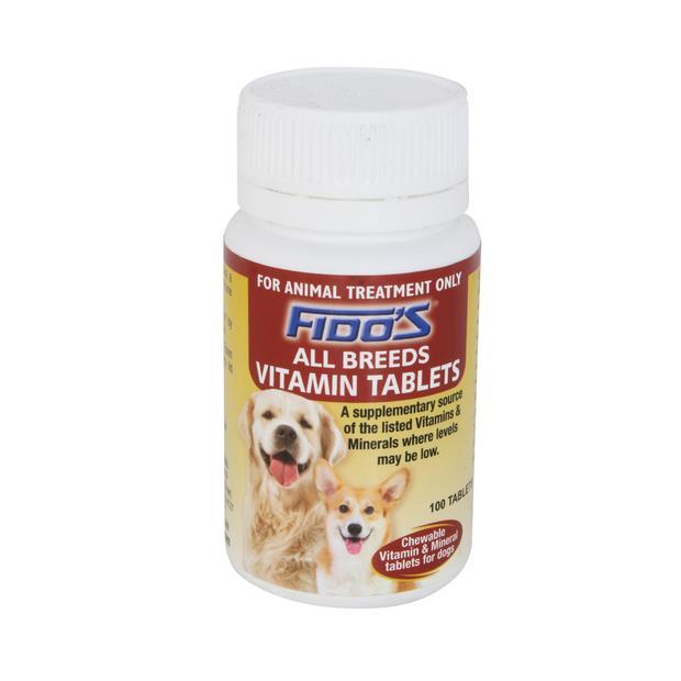 Fidos Vitamin All Breeds 100 Pack Pet: Dog Category: Dog Supplies  Size: 0.2kg  Rich Description: Well...