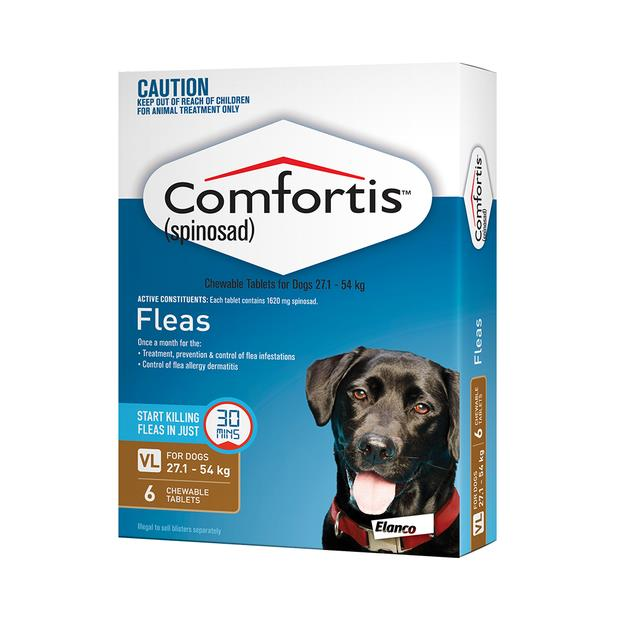 Comfortis Tab 1620mg Brown 6 Pack Pet: Dog Category: Dog Supplies  Size: 0.1kg  Rich Description:...