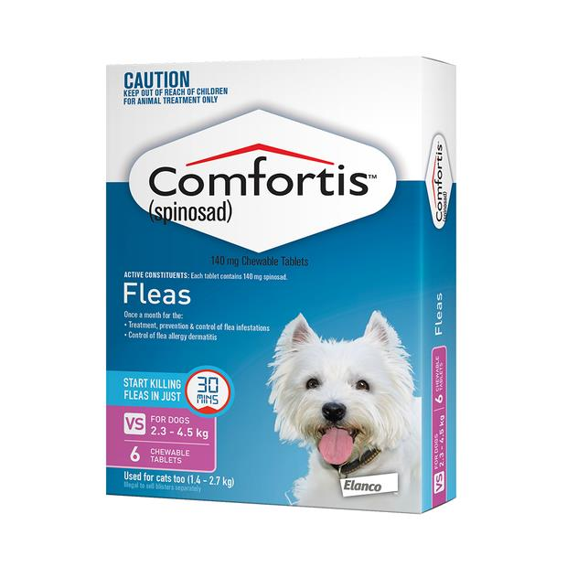 Comfortis Tab 140mg Pink 6 Pack Pet: Dog Category: Dog Supplies  Size: 0.1kg  Rich Description:...
