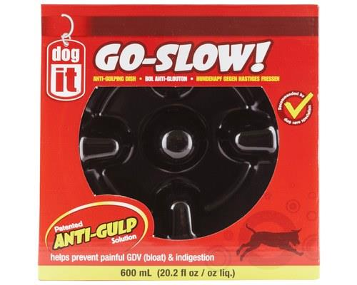 Dogit Go-Slow! Anti-Gulping Dog Bowl, BlackSize: Inner 17cm across x 9.5cm H, 600mlThe Dogit Go-Slow!