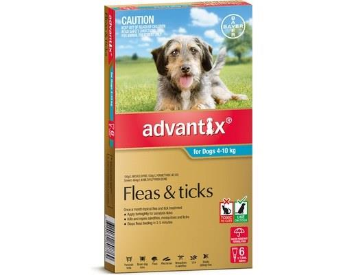 Advantix Flea, Fly and Tick Treatment for Dogs 4 - 10kg, 6 Months Supply AquaThis treatment has been...