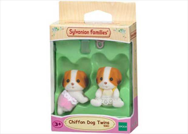 Meet the Chiffon Dog twins, pack includes Austin and Nigella Doughty. Each set comes with a push cart...