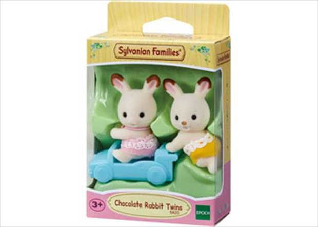 Meet Breeze and Kabe Chocolate the Chocolate Rabbit Twins. Set comes complete with push cart. Ages: 3...