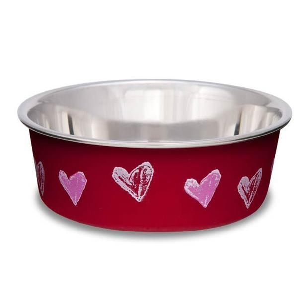 Loving Pets Bella Bowl Hearts Valentine Red Medium Pet: Dog Category: Dog Supplies  Size: 2.3kg Colour:...
