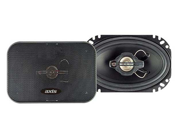 Experience clear sound with the Axis XR463 4 x 6 3-Way Coaxial Speaker System. A 46mm mounting depth...