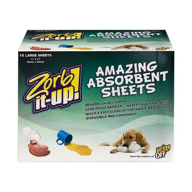 Urine Off Zorb It Up Absorbent Sheets Dispenser 15 Sheets Pet: Dog Category: Dog Supplies  Size: 0.5kg...