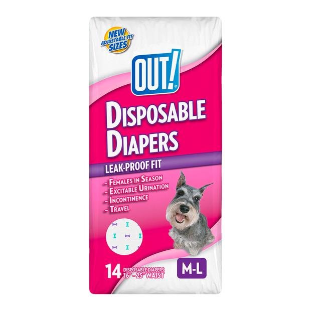 Out Disposable Diaper Medium 14 Pack Pet: Dog Category: Dog Supplies  Size: 0.4kg  Rich Description:...
