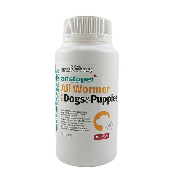Aristopet Allwormer Tablets For Dogs 10kg 4 Pack Pet: Dog Category: Dog Supplies  Size: 0kg  Rich...