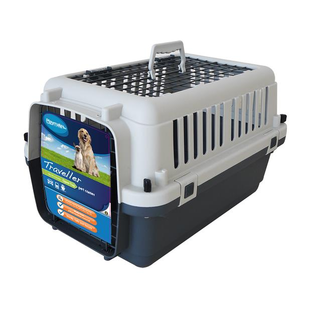 Playmate Traveller Crate Air X Small Pet: Dog Category: Dog Supplies  Size: 2.7kg Colour: Grey  Rich...
