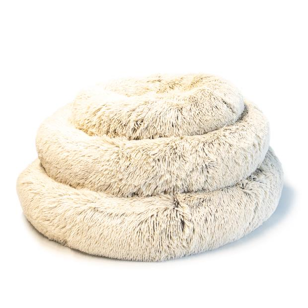 Paws For Life Cosy Calming Bed Tan Large Pet: Dog Category: Dog Supplies  Size: 2.2kg Colour: Beige...